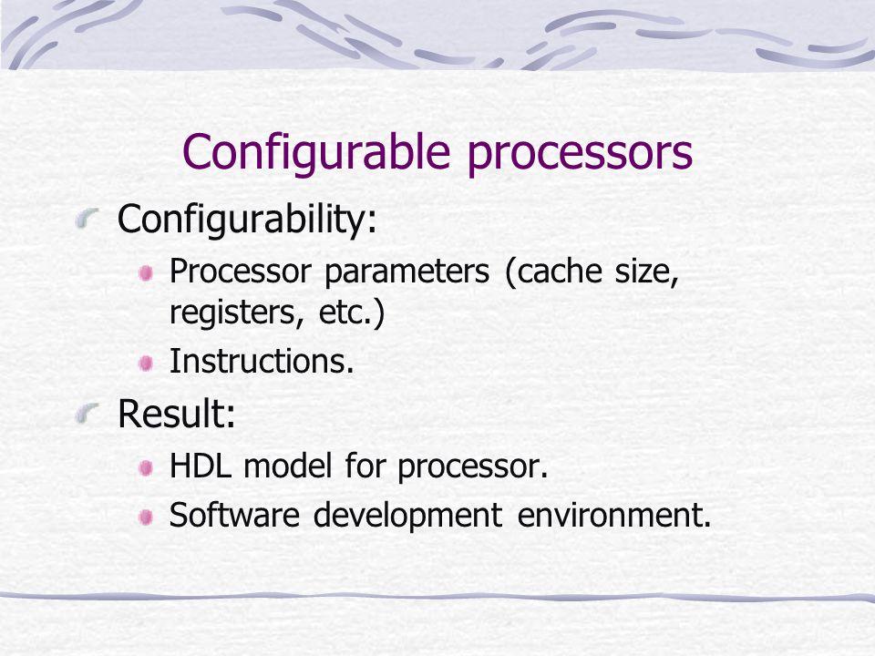 Configurable processors