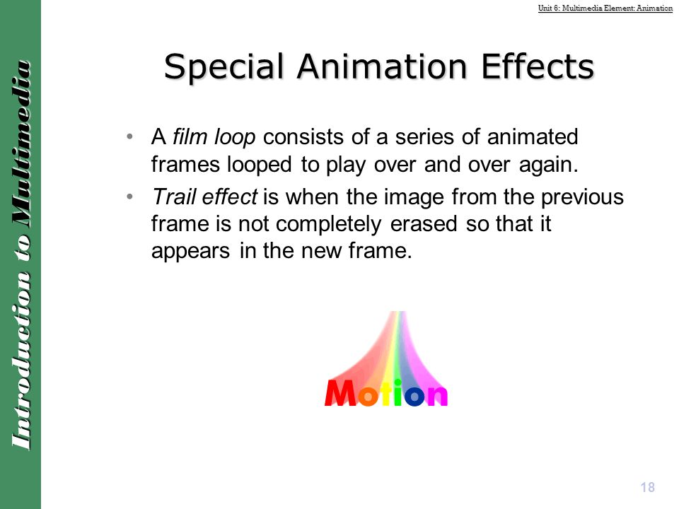 Special Animation Effects