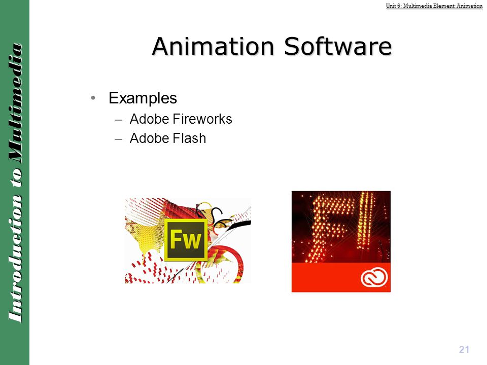 Animation Software Examples Adobe Fireworks Adobe Flash