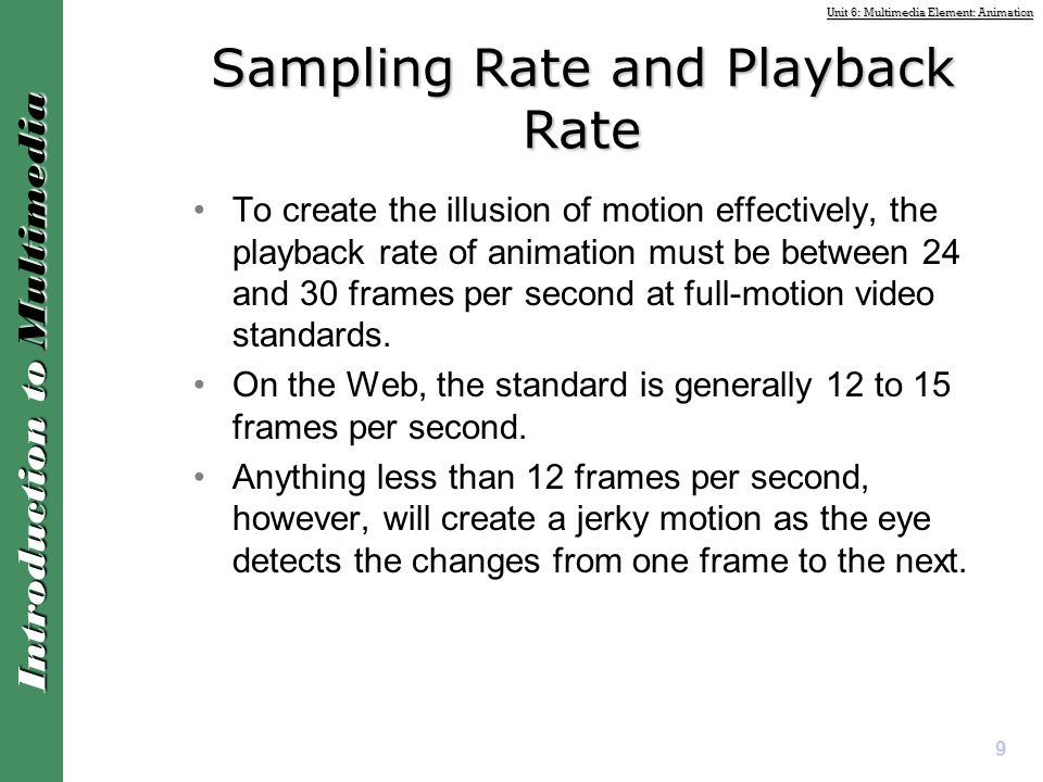 Sampling Rate and Playback Rate