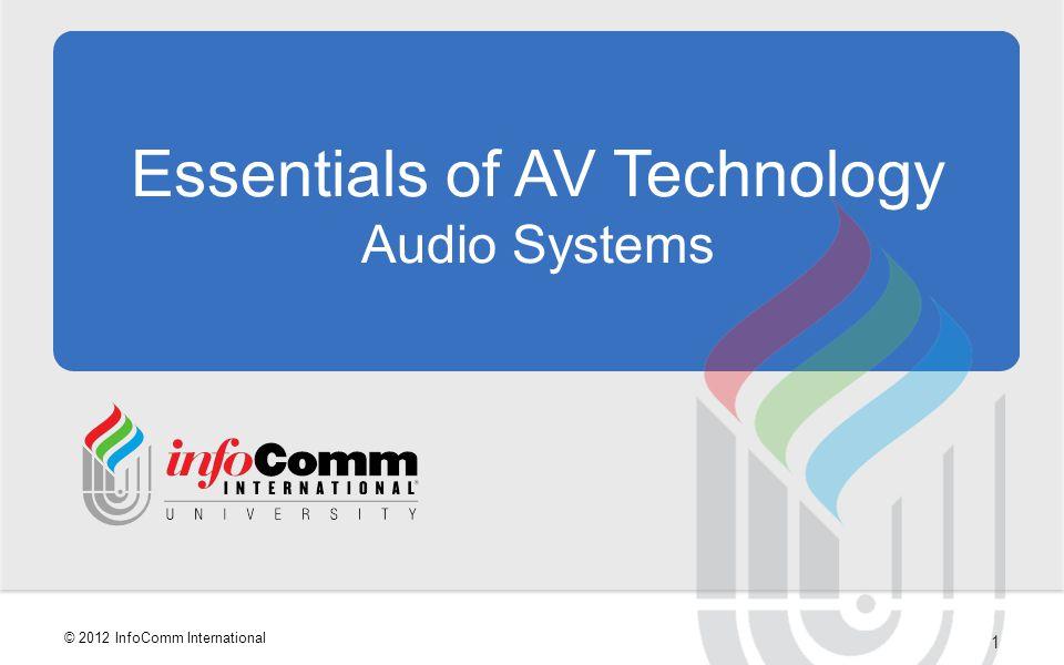 Essentials of AV Technology Audio Systems