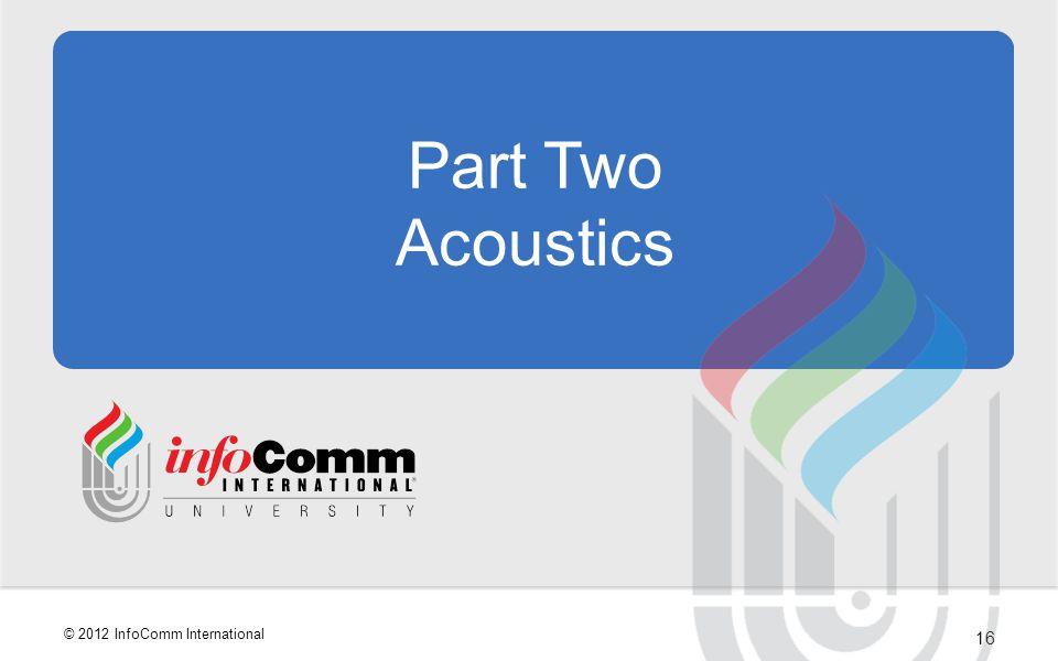 Part Two Acoustics