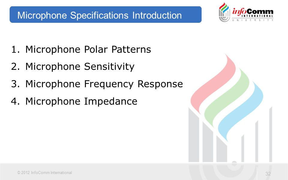Microphone Specifications Introduction