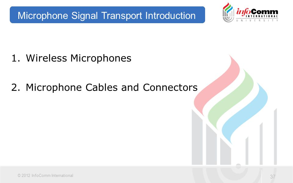 Microphone Signal Transport Introduction