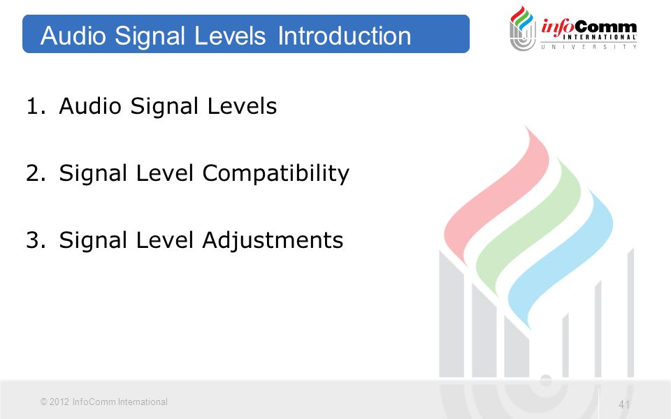 Audio Signal Levels Introduction