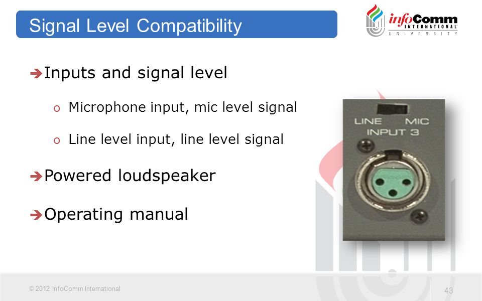 Signal Level Compatibility