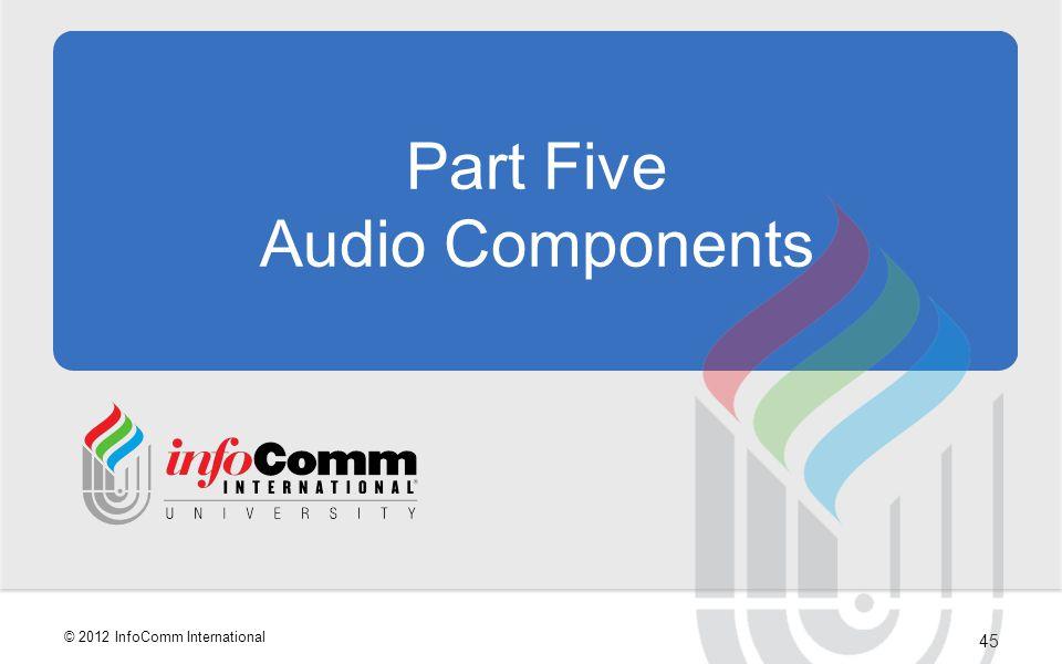 Part Five Audio Components