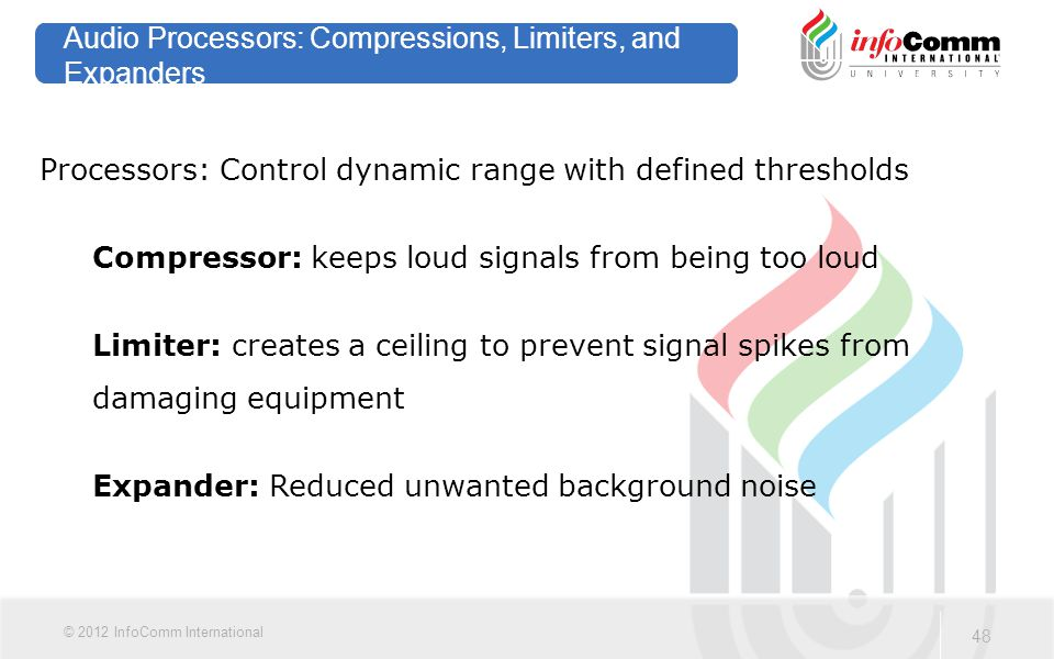 Audio Processors: Compressions, Limiters, and Expanders