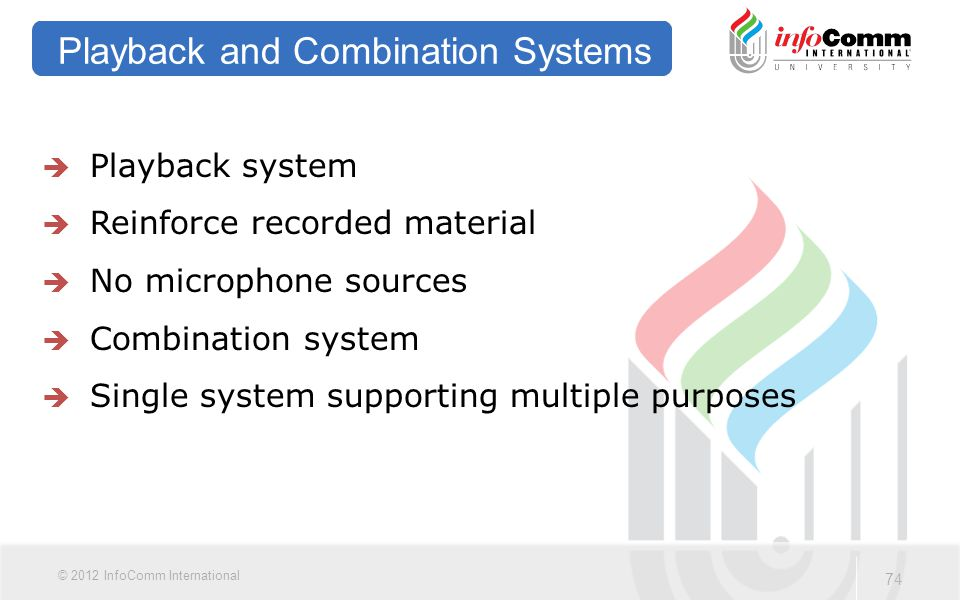 Playback and Combination Systems