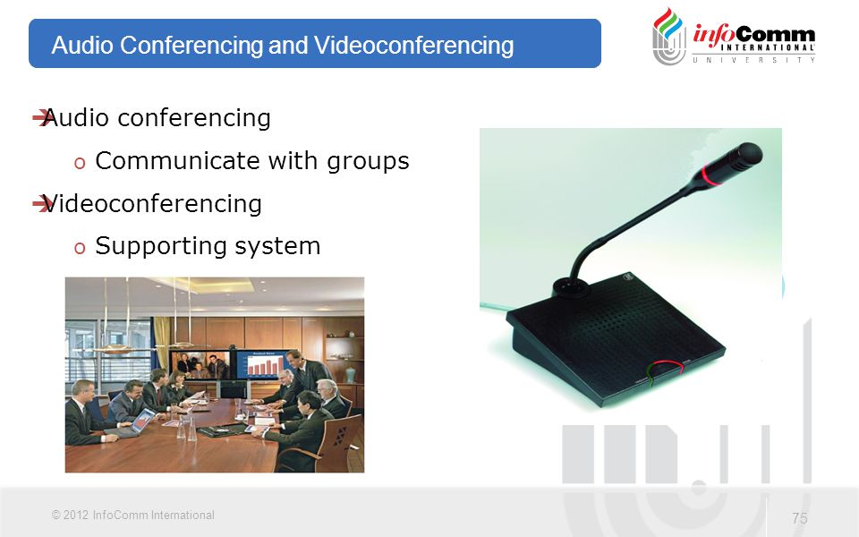 Audio Conferencing and Videoconferencing