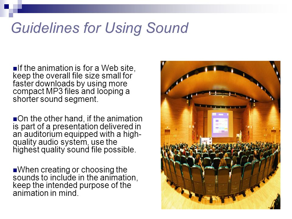 Guidelines for Using Sound