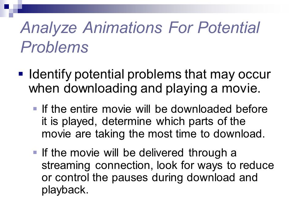Analyze Animations For Potential Problems