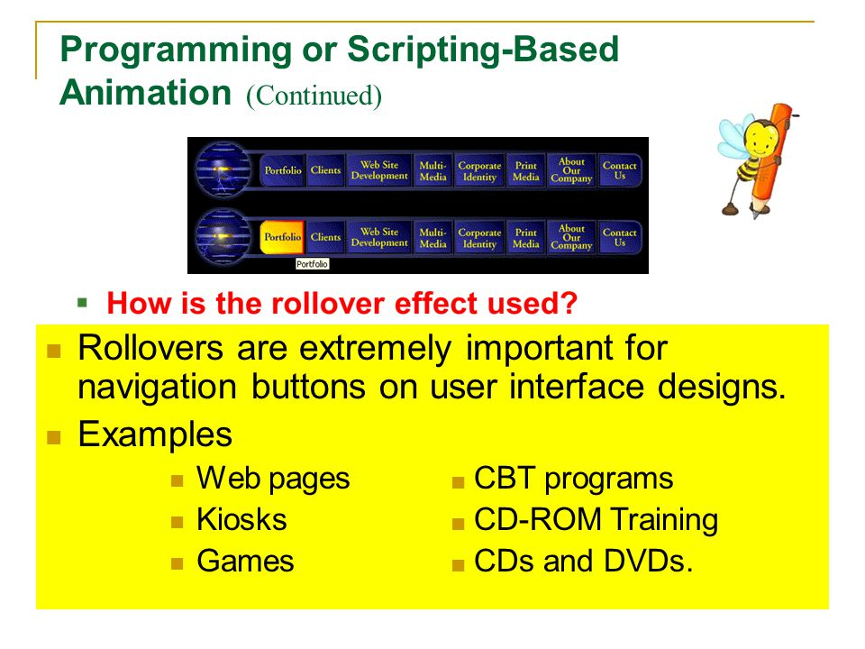 Programming or Scripting-Based Animation (Continued)