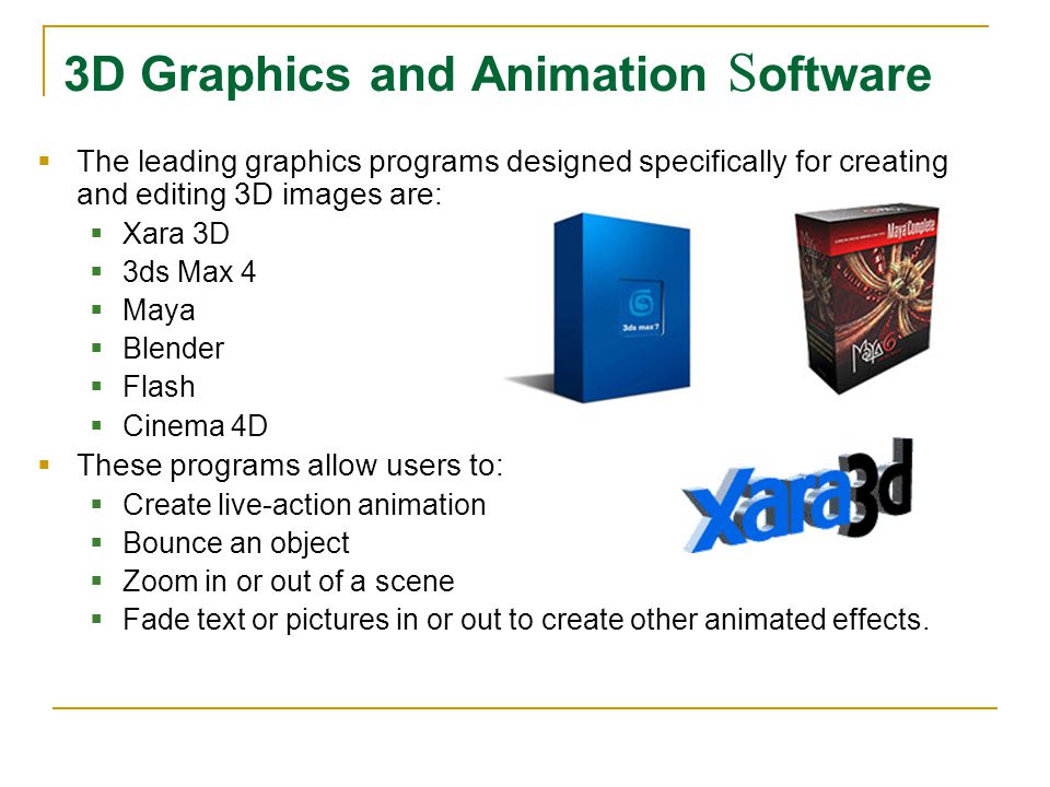 3D Graphics and Animation Software