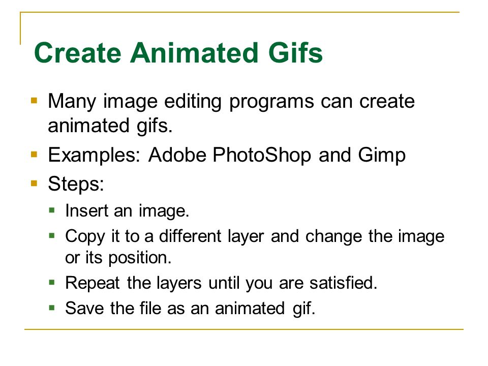 202a history of animation 202 develop computer animations ppt 42 create animated gifs negle Images