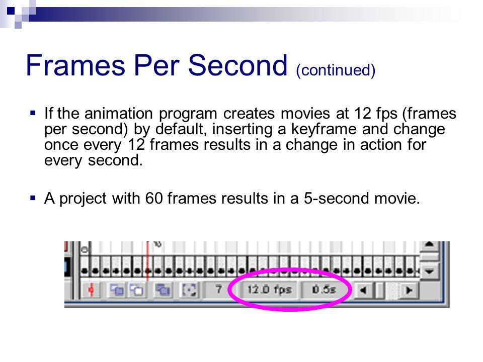 Frames Per Second (continued)