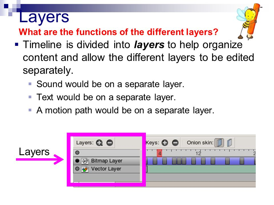 Layers What are the functions of the different layers