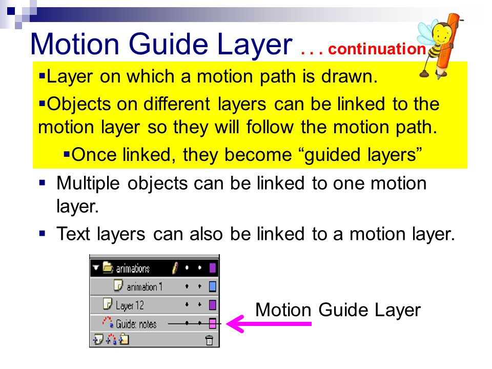 Motion Guide Layer . . . continuation