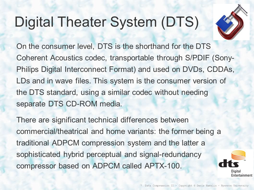 Digital Theater System (DTS)‏