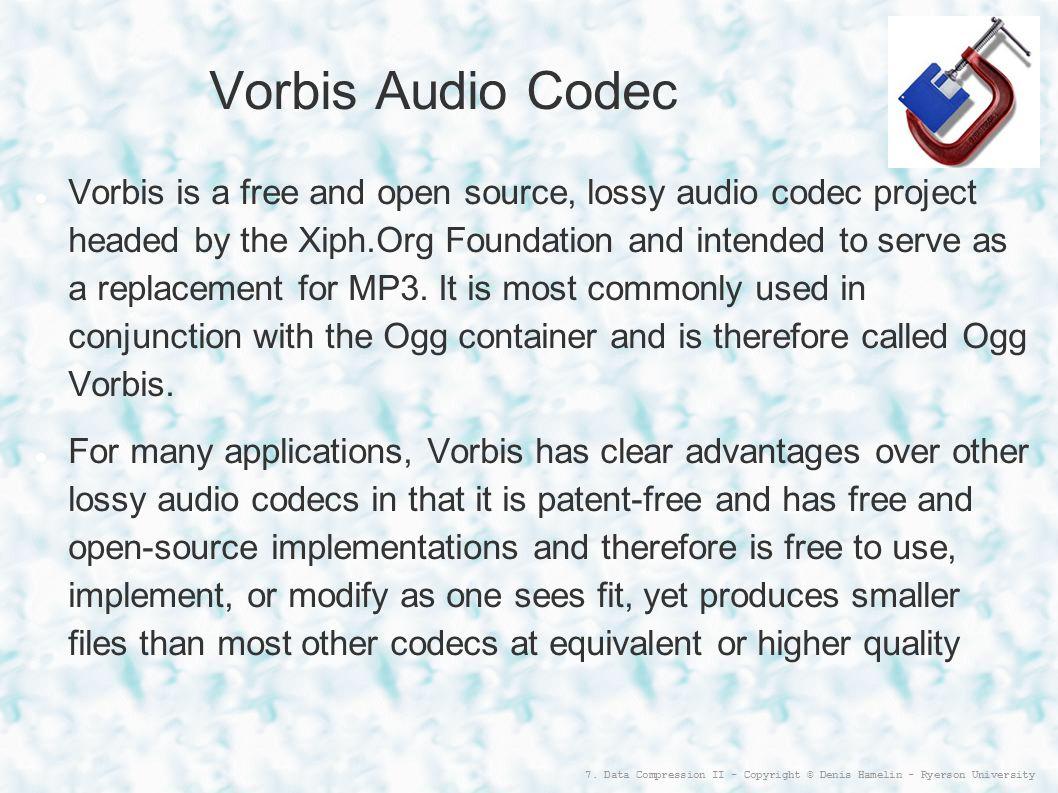Vorbis Audio Codec