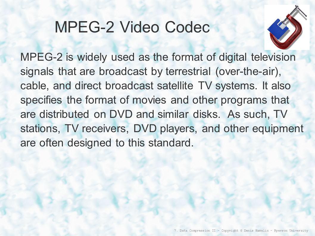 MPEG-2 Video Codec