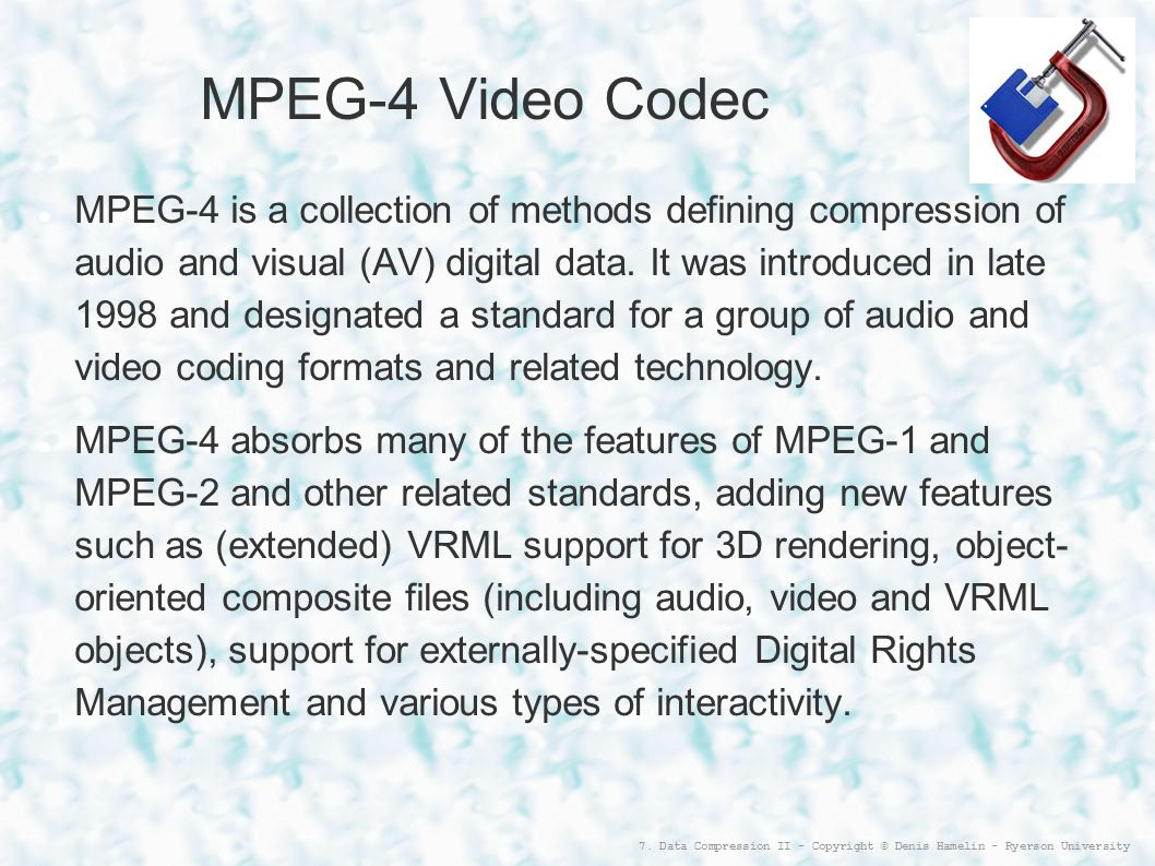 MPEG-4 Video Codec