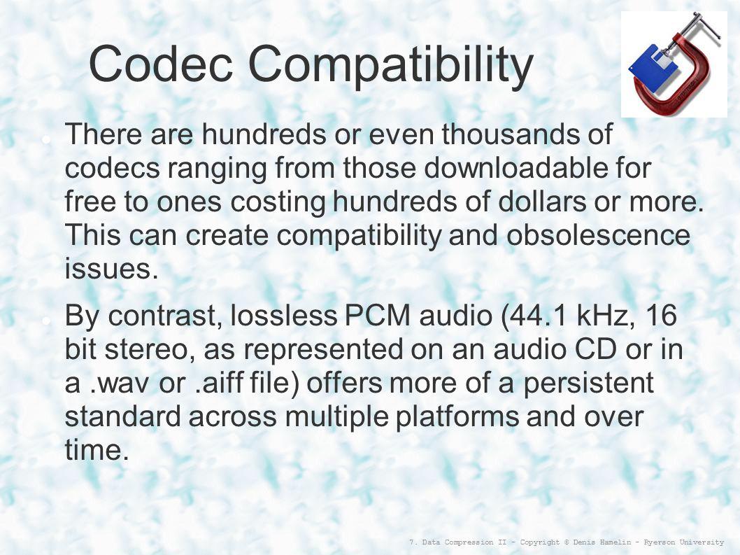 Codec Compatibility
