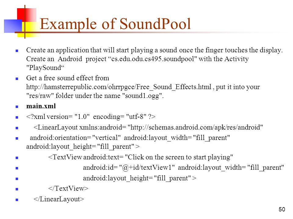 Example of SoundPool