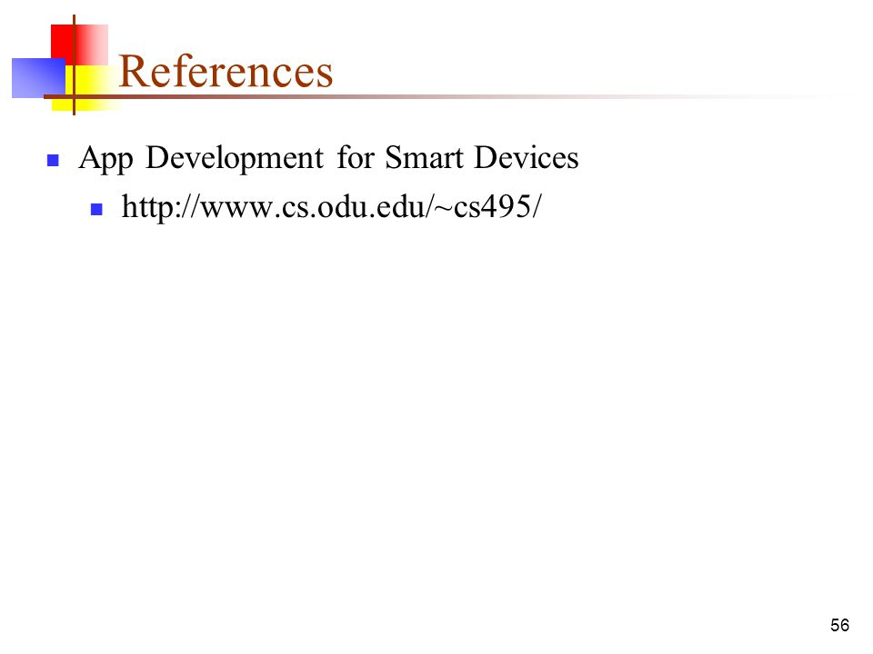 References App Development for Smart Devices