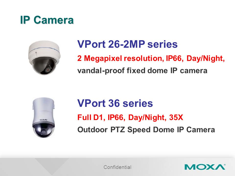 IP Camera VPort 26-2MP series VPort 36 series