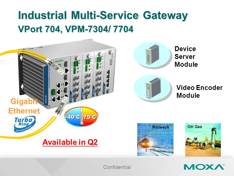 Industrial Multi-Service Gateway VPort 704, VPM-7304/ 7704