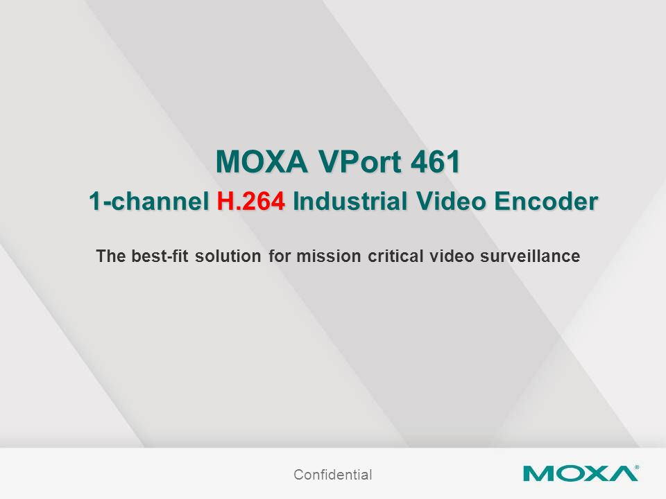 MOXA VPort 461 1-channel H.264 Industrial Video Encoder