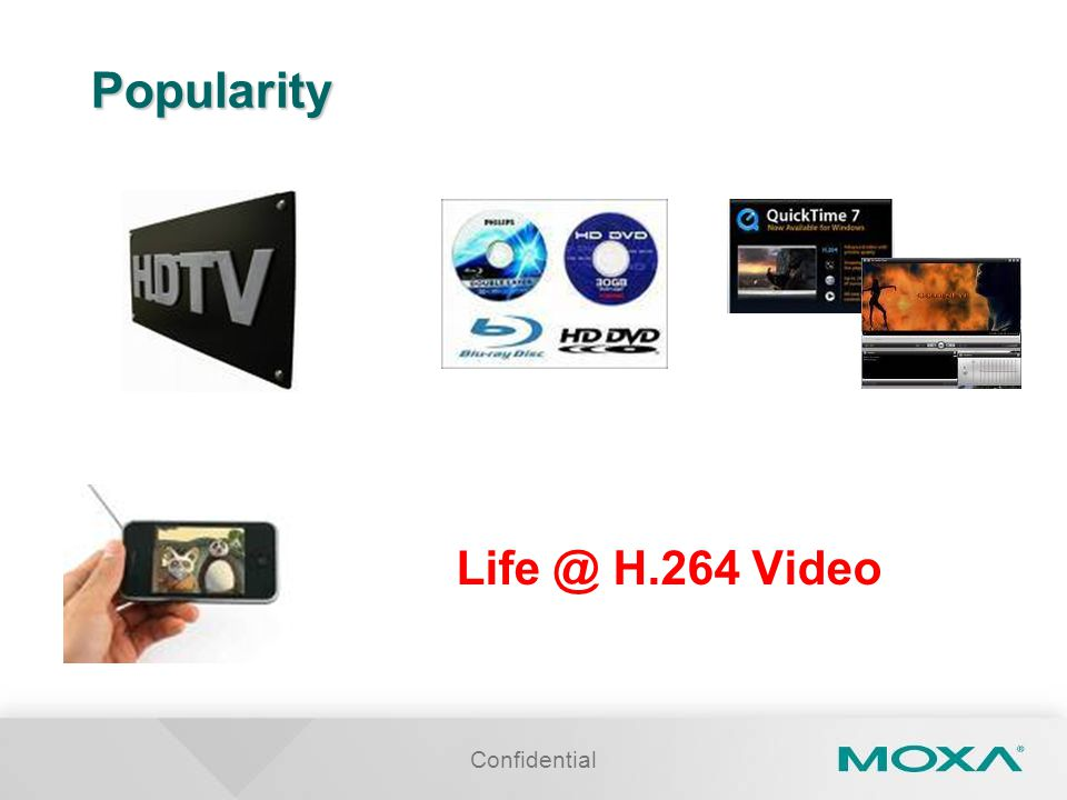 Popularity Life @ H.264 Video Confidential