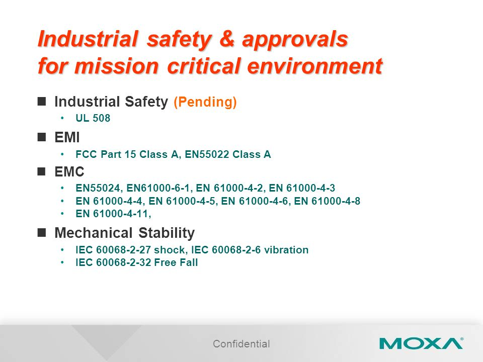 Industrial safety & approvals for mission critical environment