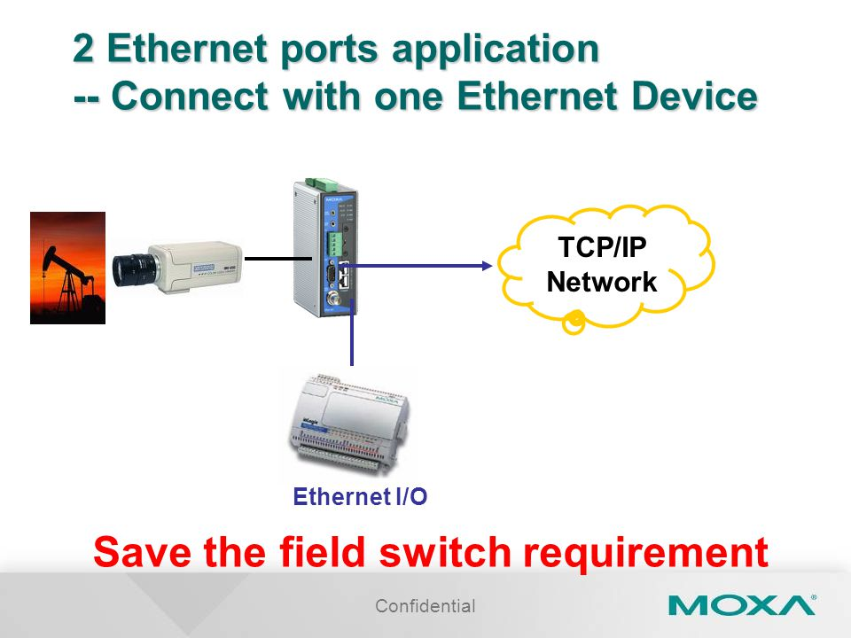 2 Ethernet ports application -- Connect with one Ethernet Device