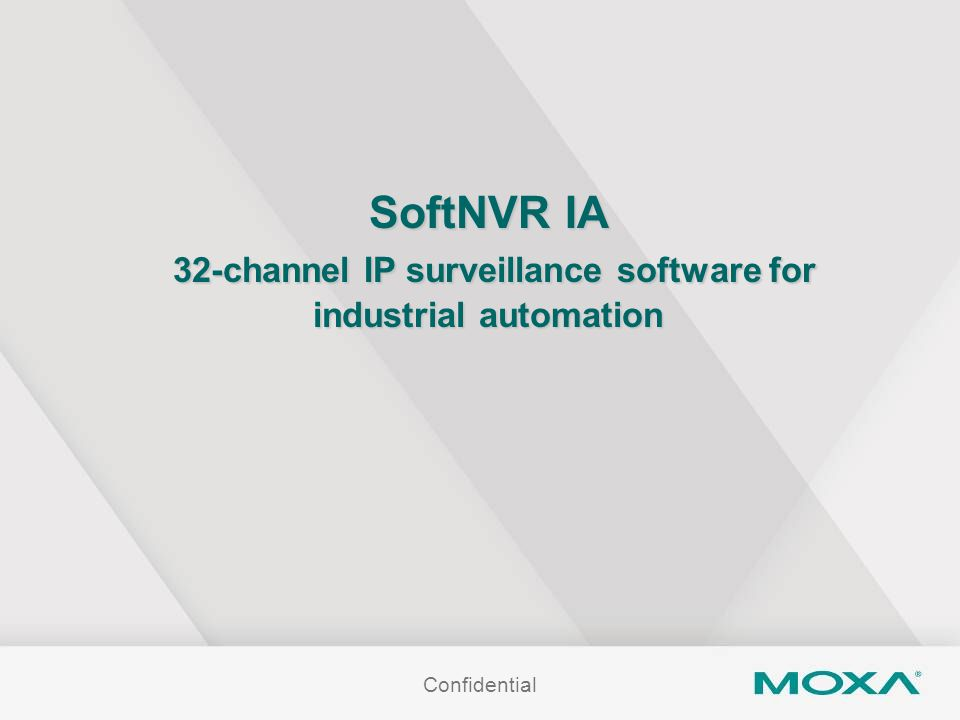 SoftNVR IA 32-channel IP surveillance software for industrial automation