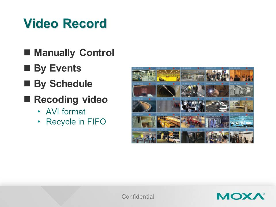 Video Record Manually Control By Events By Schedule Recoding video