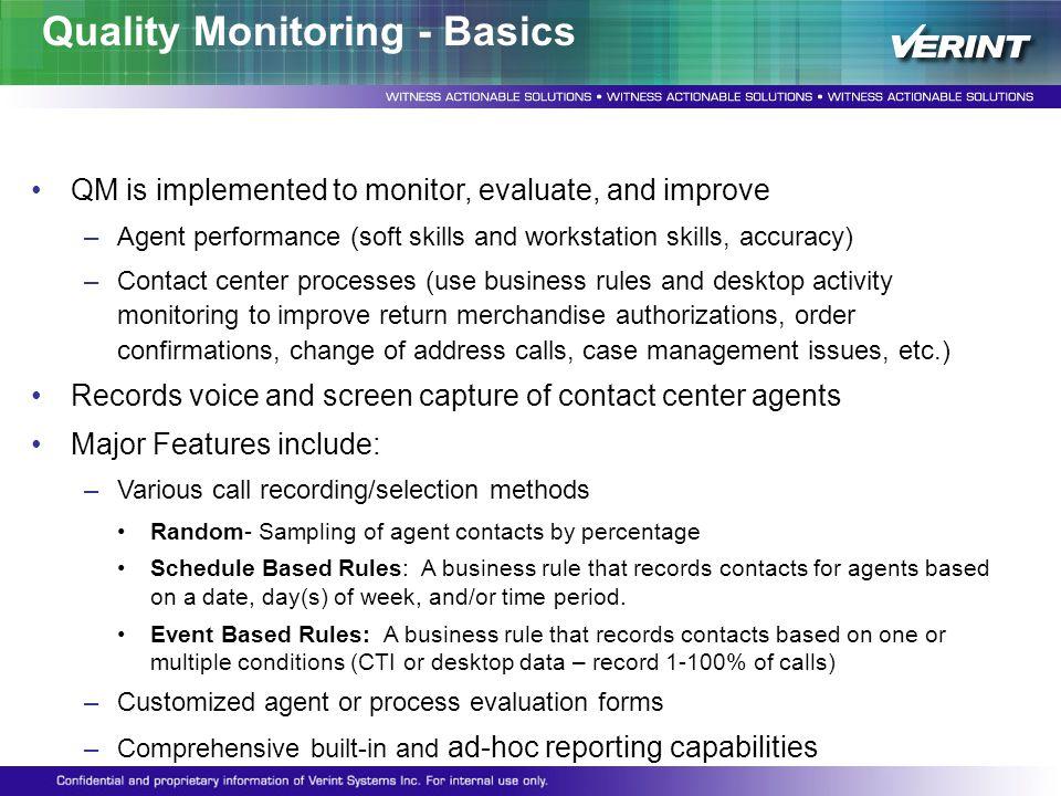 Quality Monitoring - Basics