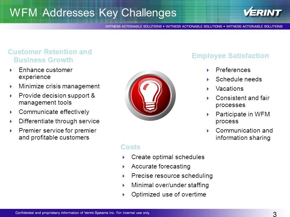 WFM Addresses Key Challenges