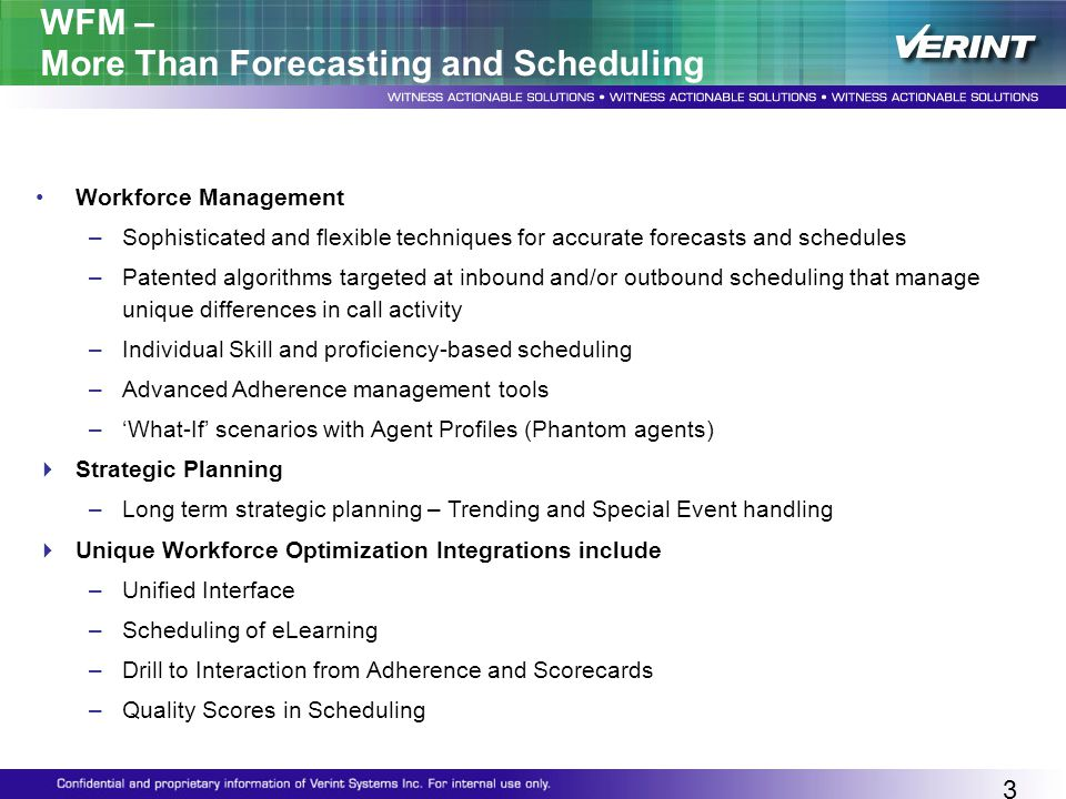WFM – More Than Forecasting and Scheduling