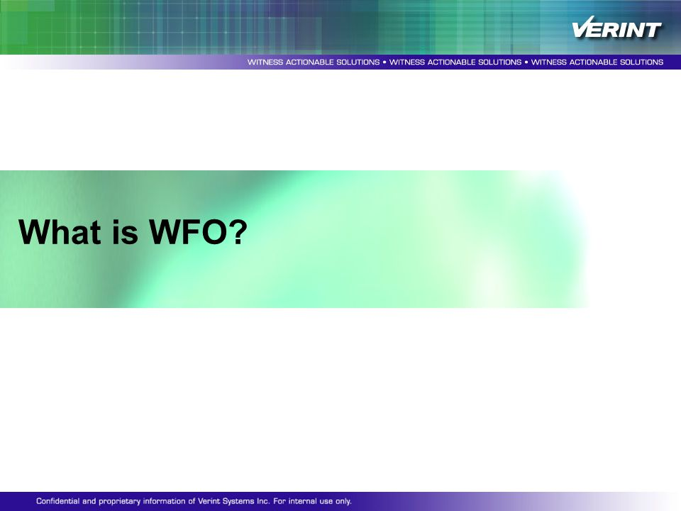 What is WFO