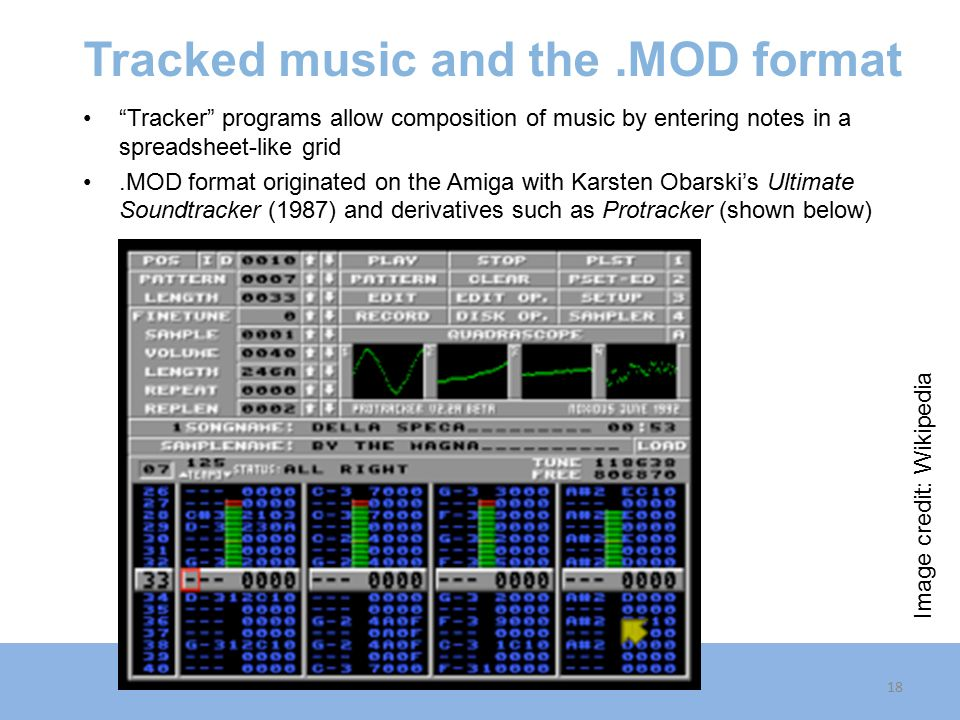 Tracked music and the .MOD format