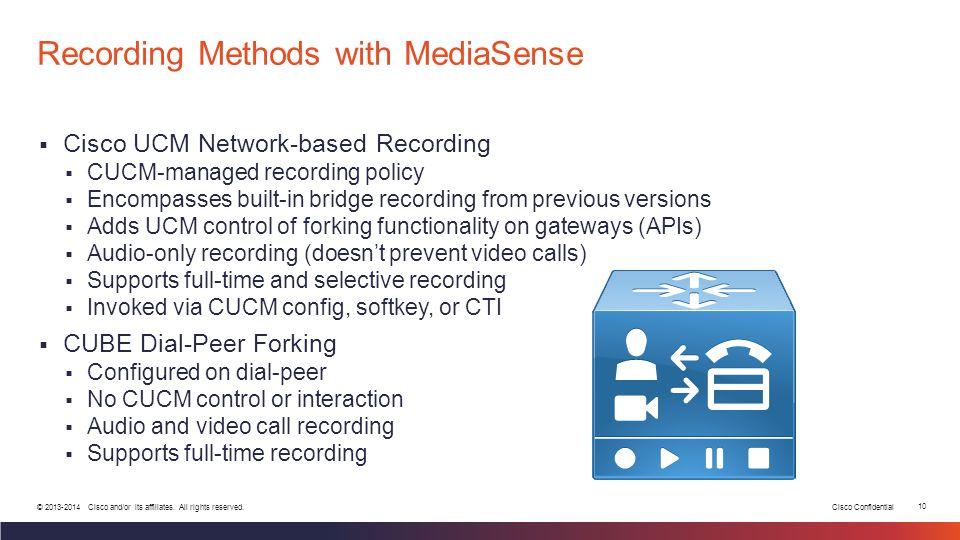 Recording Methods with MediaSense