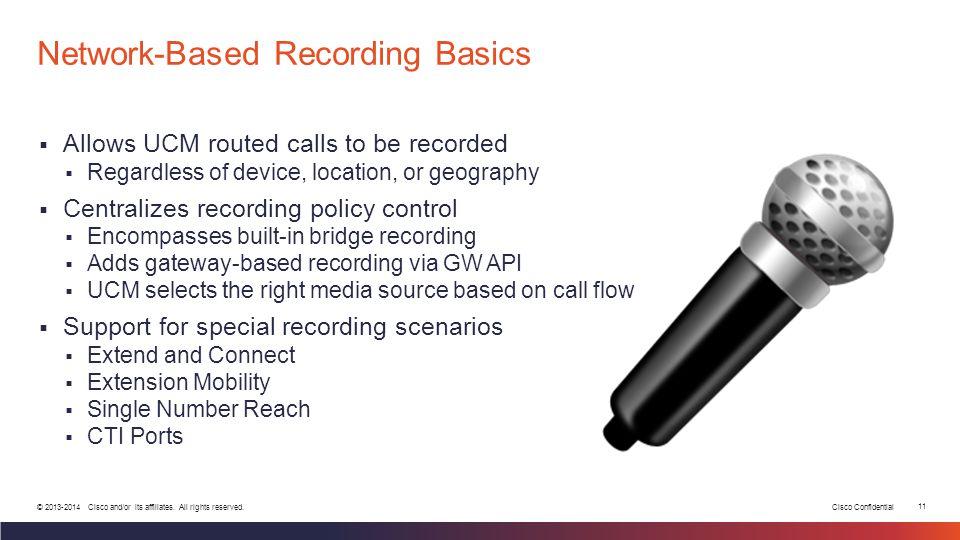 Network-Based Recording Basics