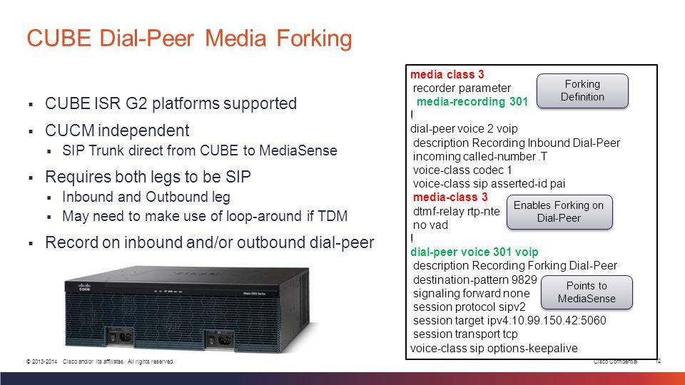 CUBE Dial-Peer Media Forking