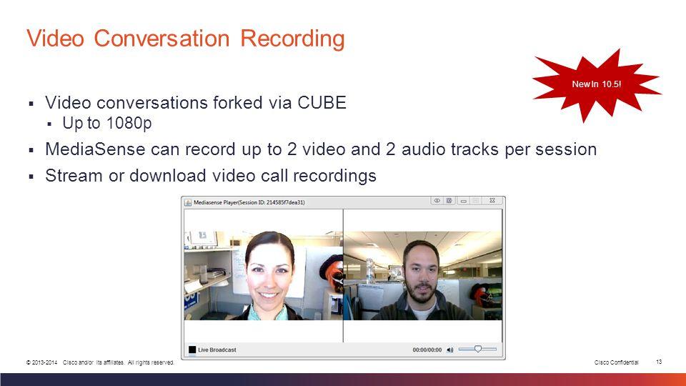 Video Conversation Recording