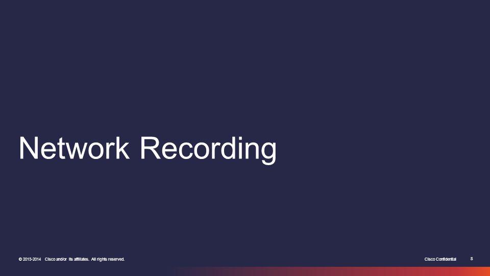 Network Recording