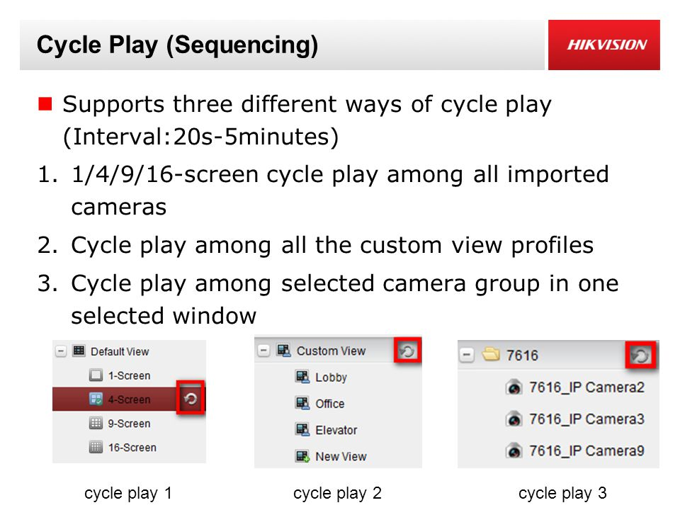 Cycle Play (Sequencing)