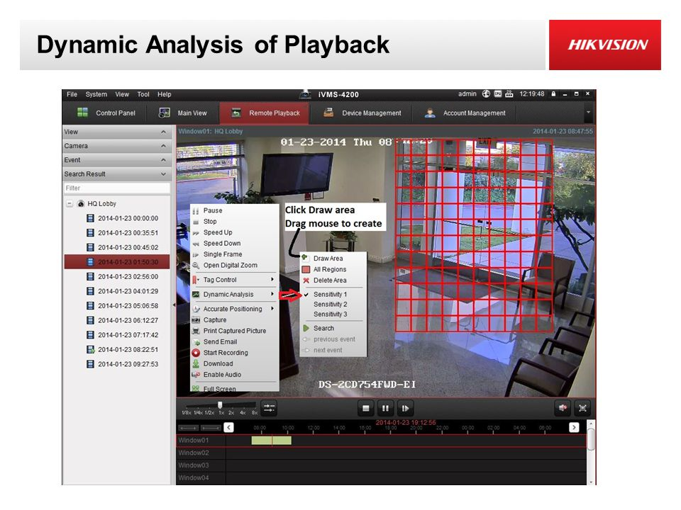Dynamic Analysis of Playback