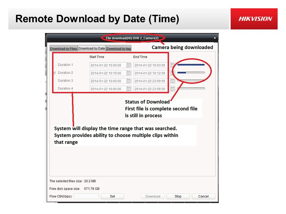 Remote Download by Date (Time)